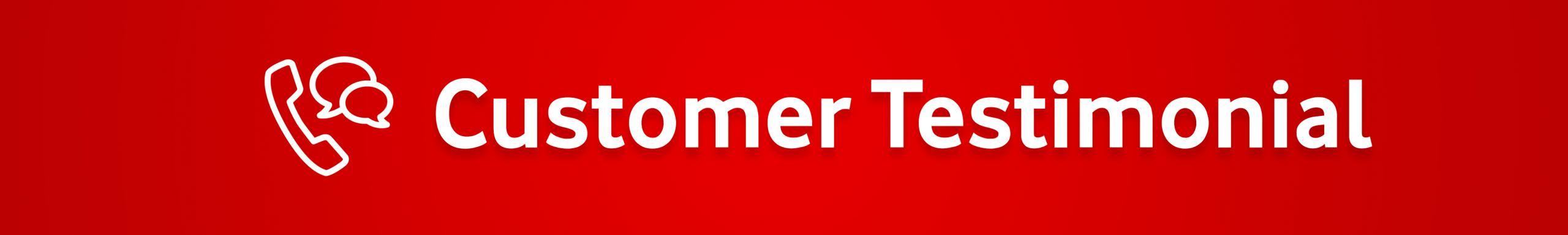 Customer Testimonials Banner